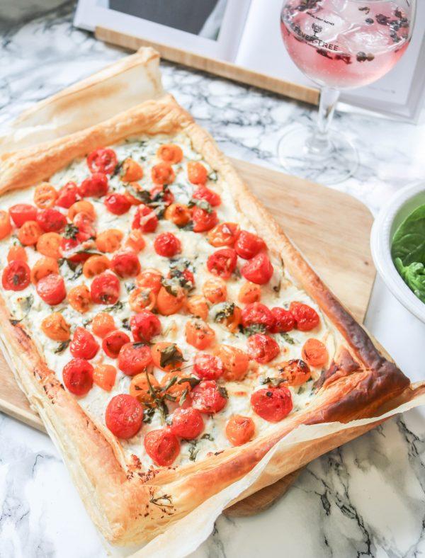 an edited lifestyle tomato tart recipe
