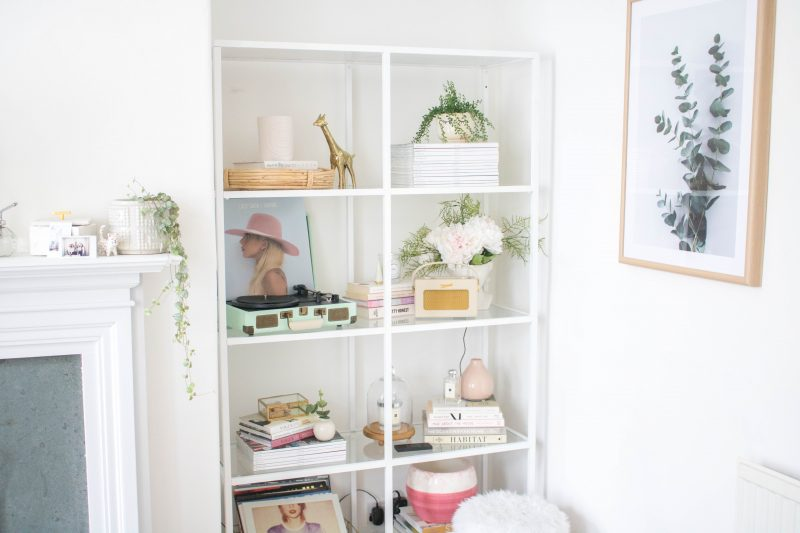an edited lifestyle interiors shelf styling