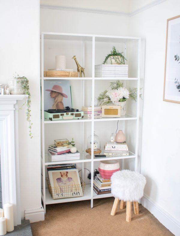 an edited lifestyle interiors shelf styling