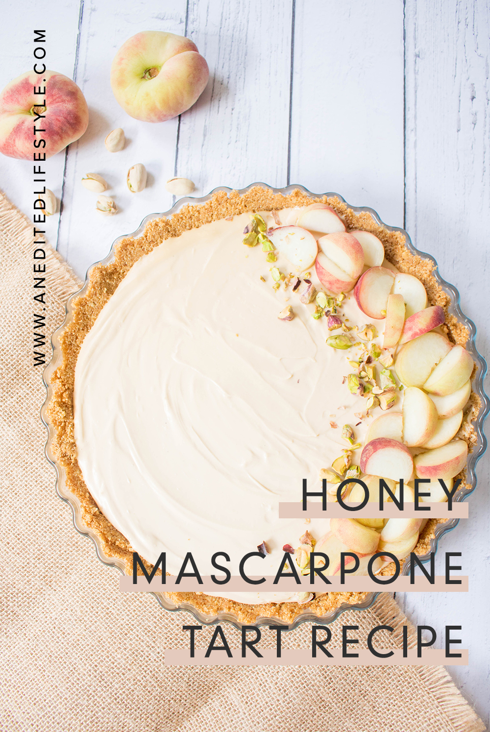 an edited lifestyle honey mascarpone tart recipe