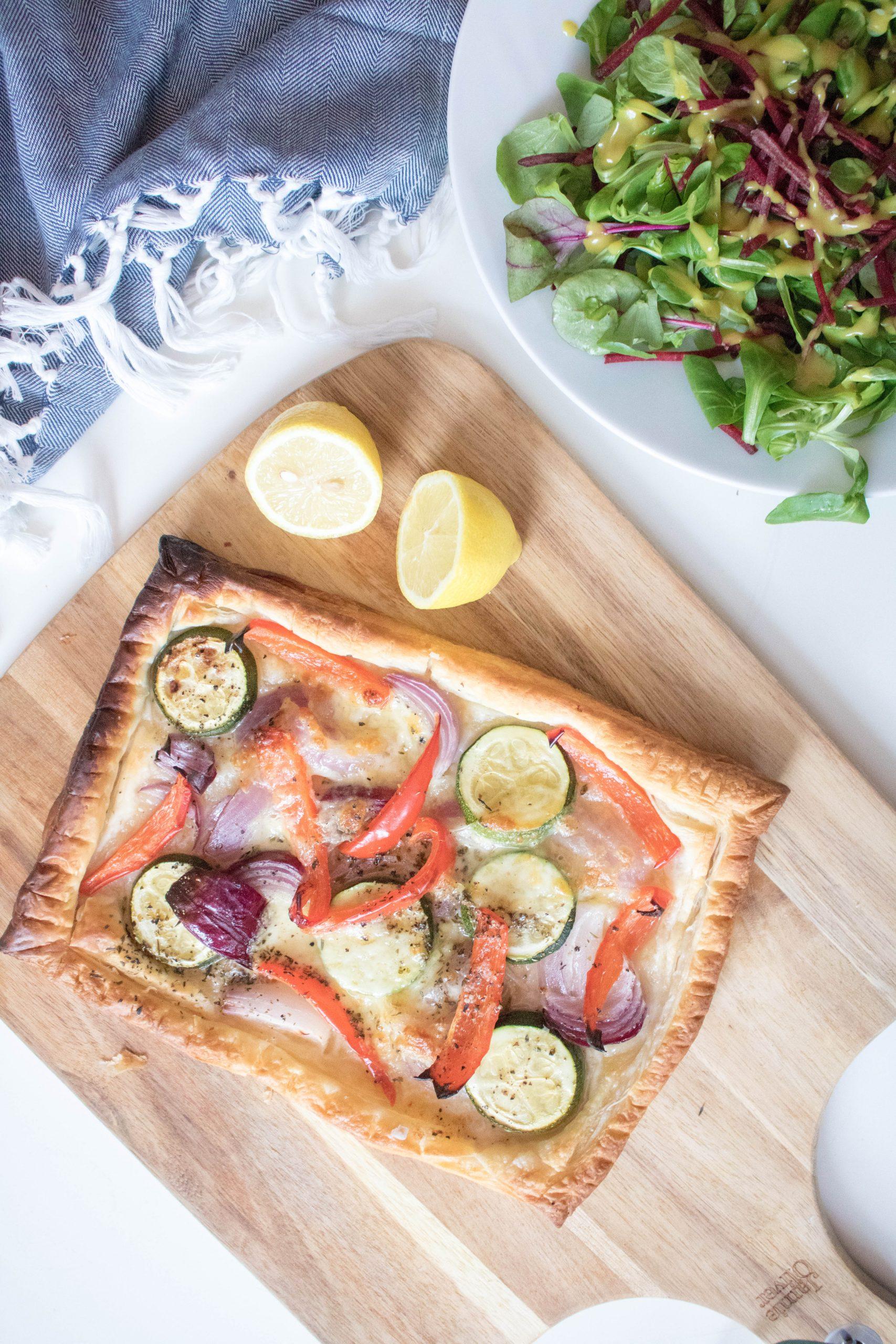 Courgette & Mozzarella Tart