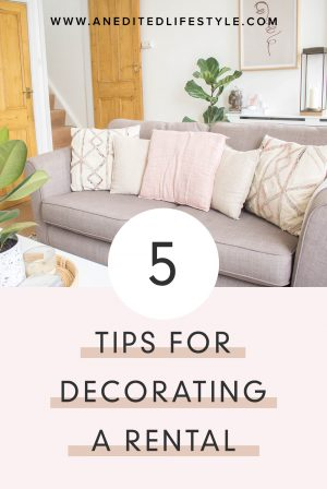 an edited lifestyle decorating a rental