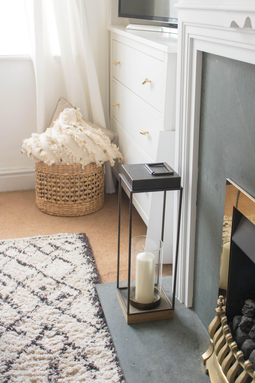 an edited lifestyle decor rental living room makeover