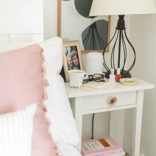 an edited lifestyle decor nightstand styling