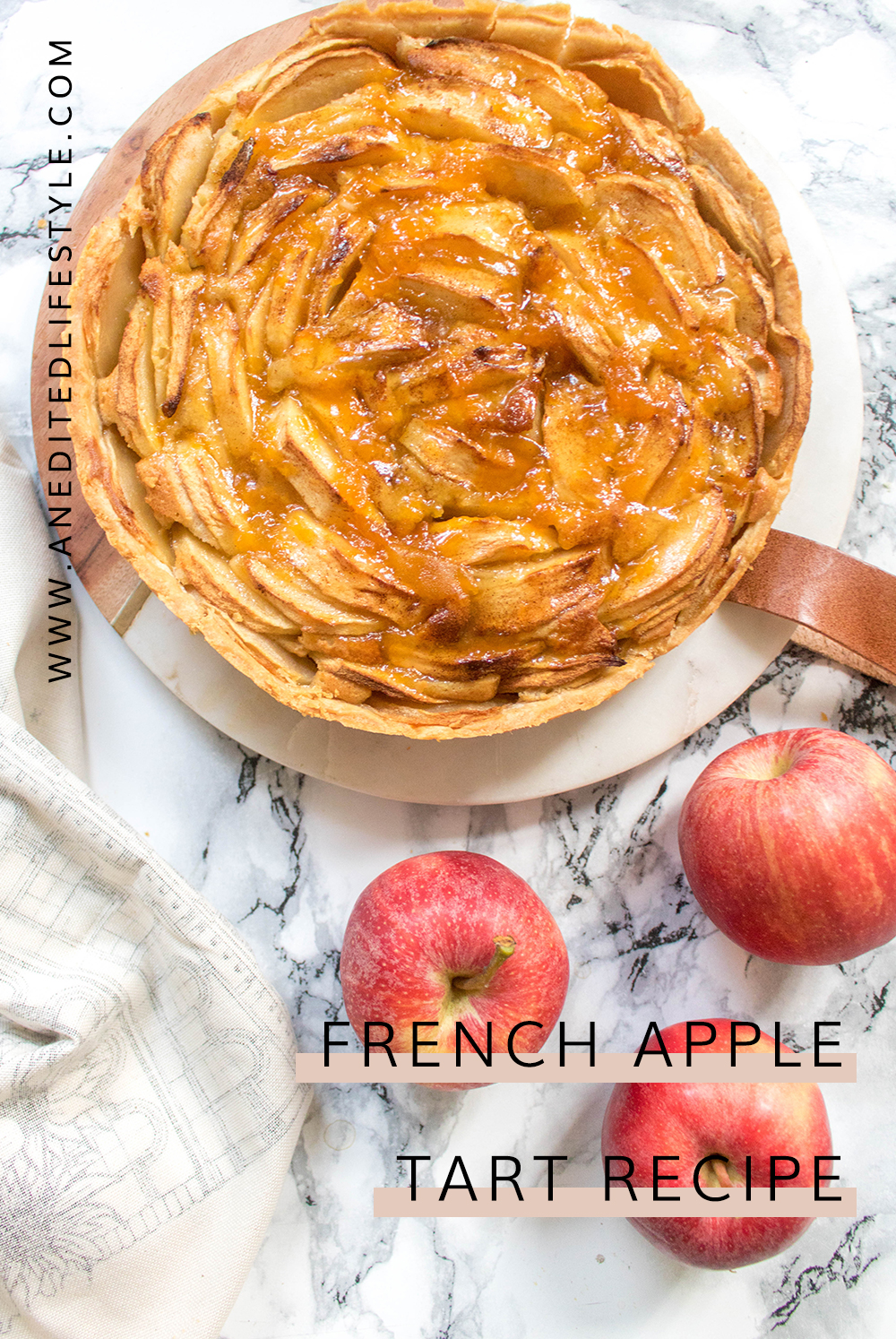 french apple tart recipe pinterest