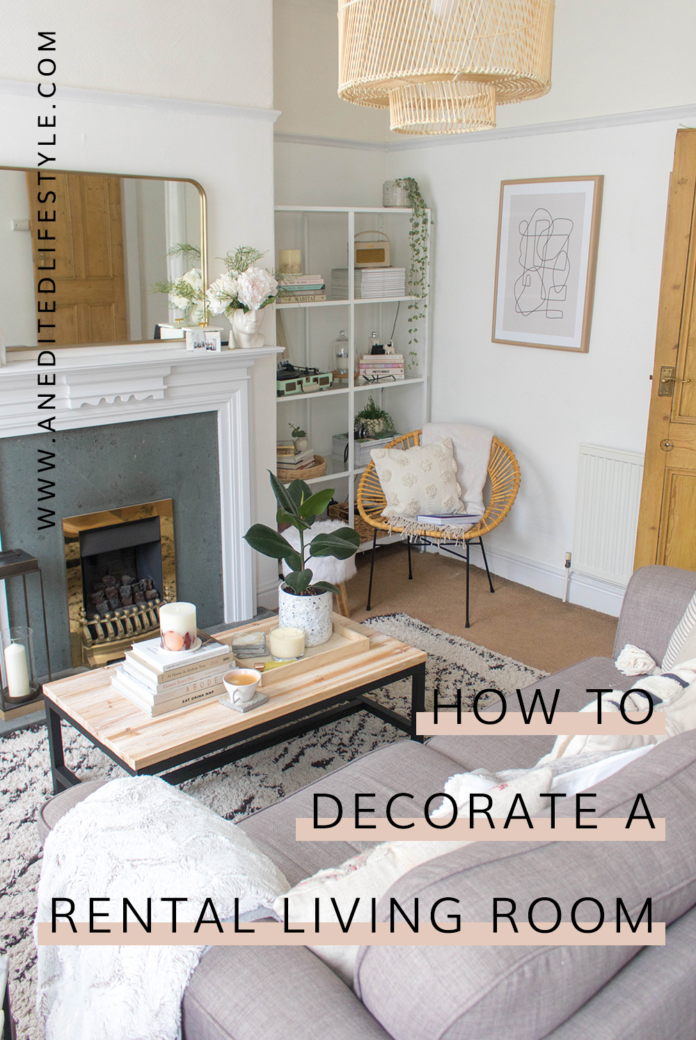 how to decorate a rental living room pinterest