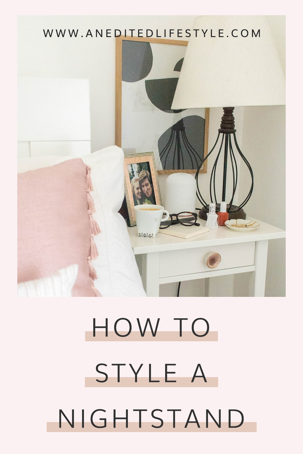 how to style a nightstand pinterest
