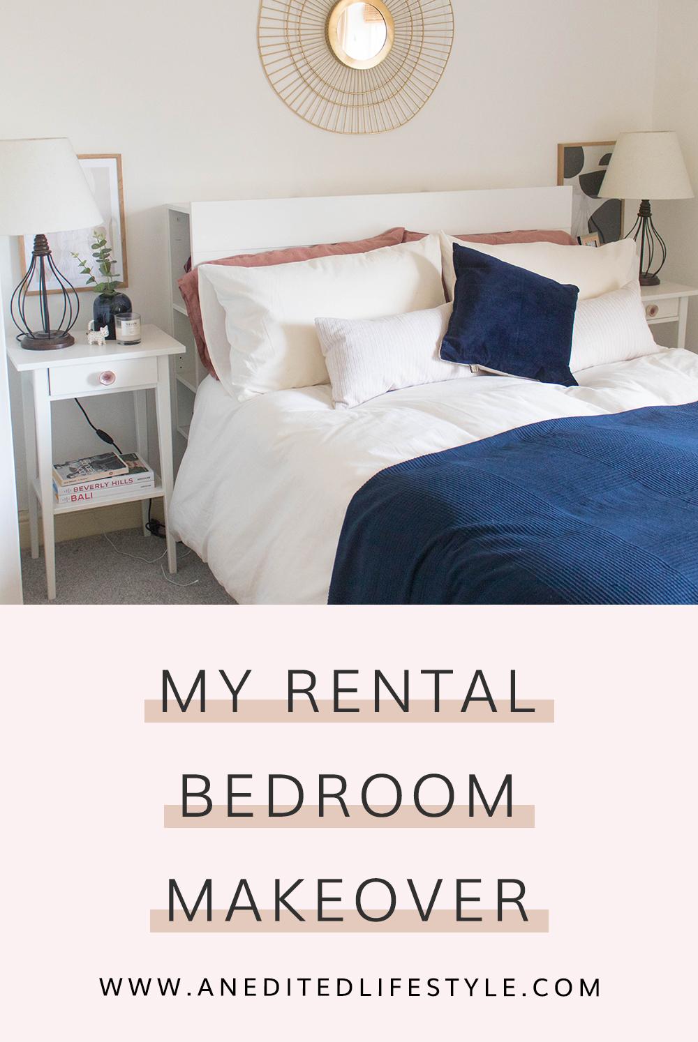 rental bedroom makeover pinterest