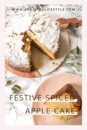 festive spiced apple cake pinterest