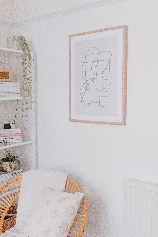 an edited lifestyle interior decor artwork