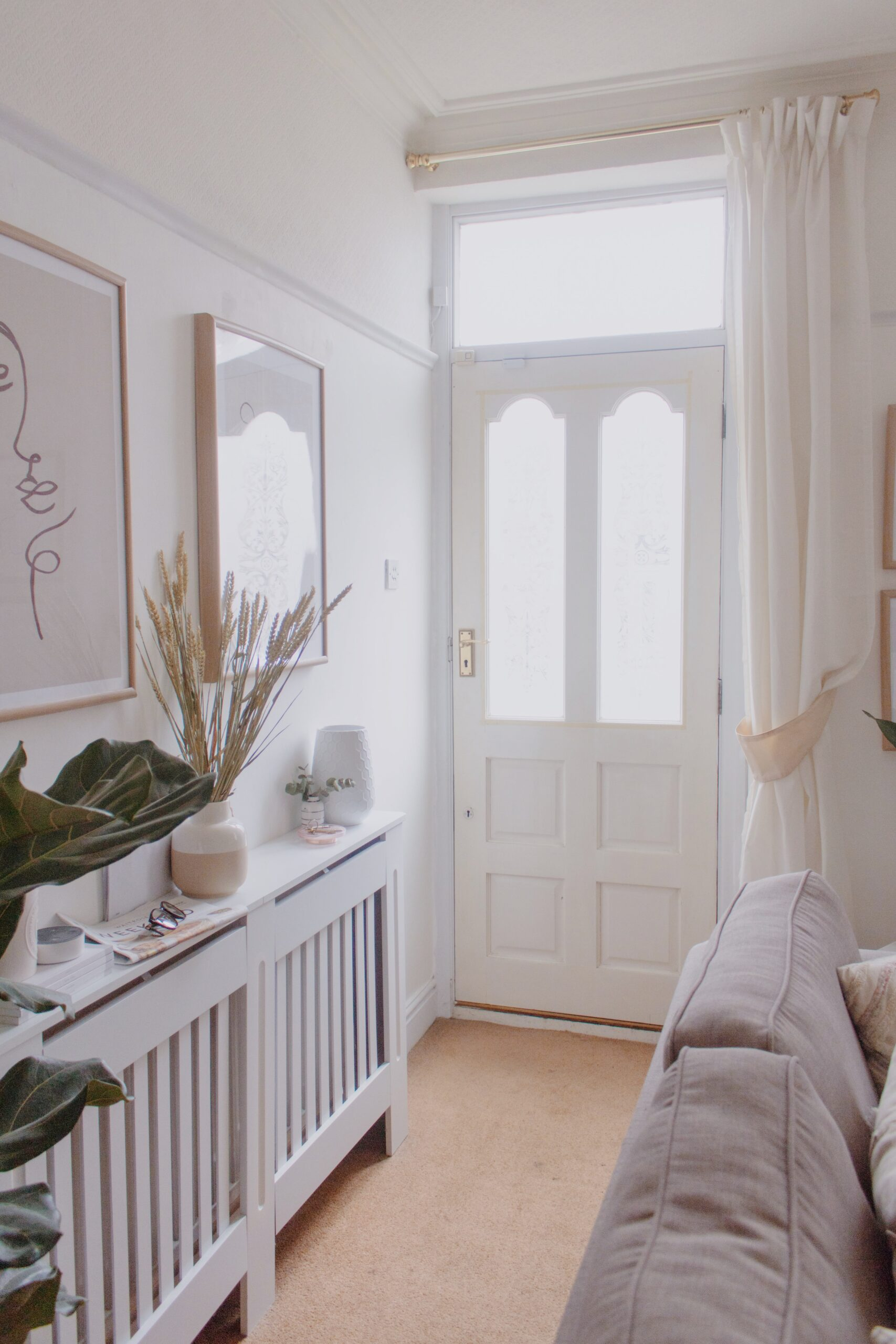 an edited lifestyle decor creating an entryway