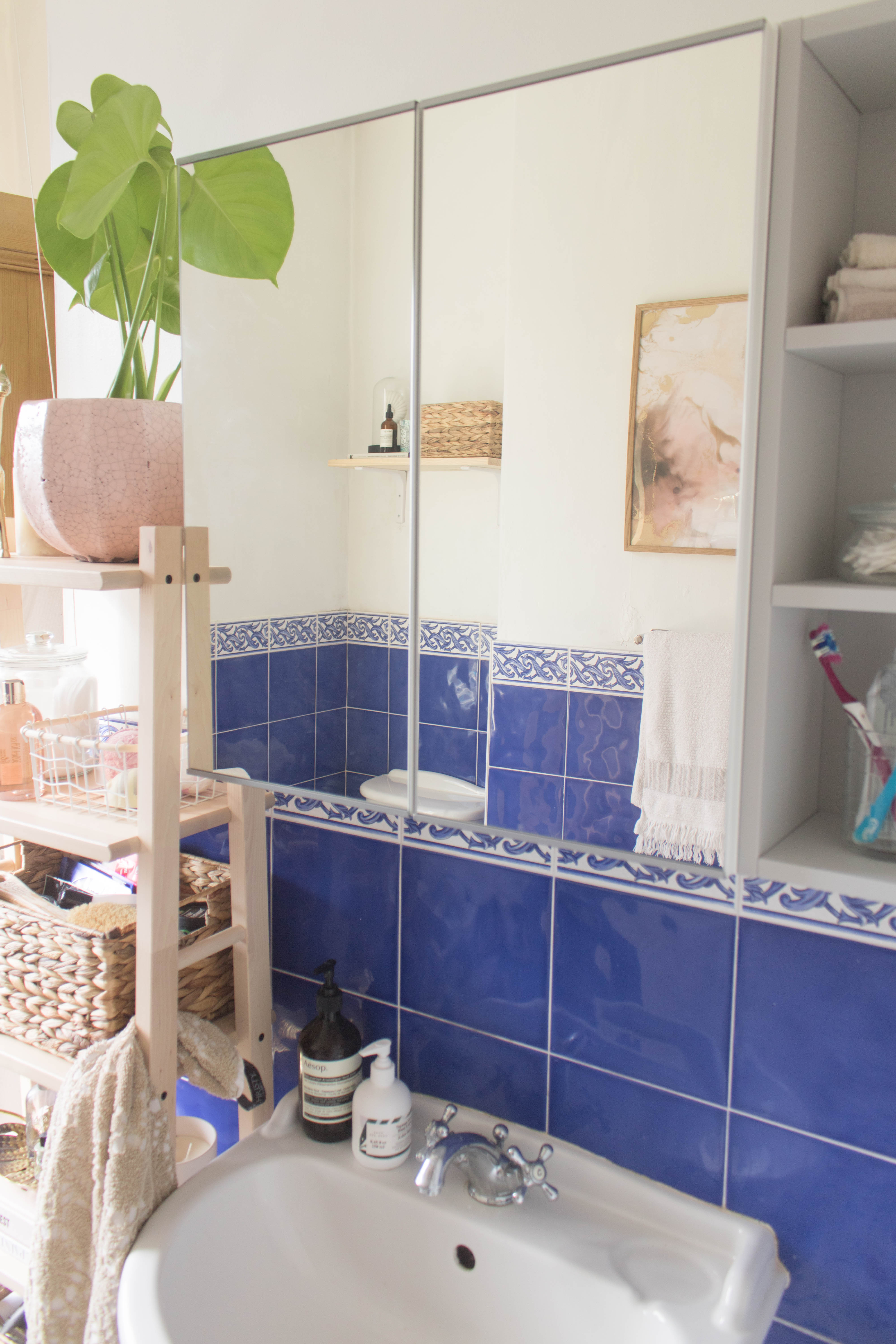an edited lifestyle interiors rental bathroom makeover