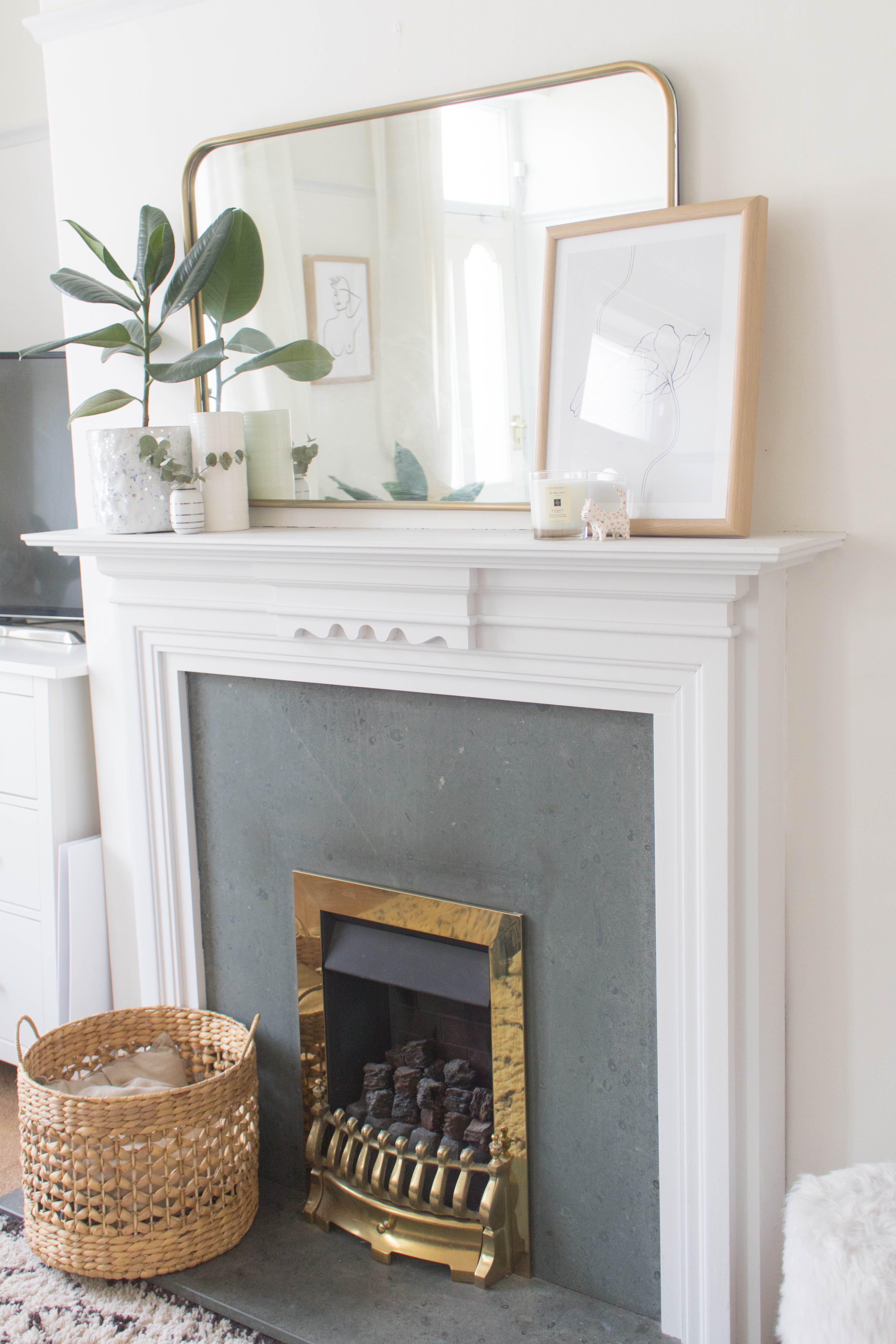 Styling a Fireplace Three Ways