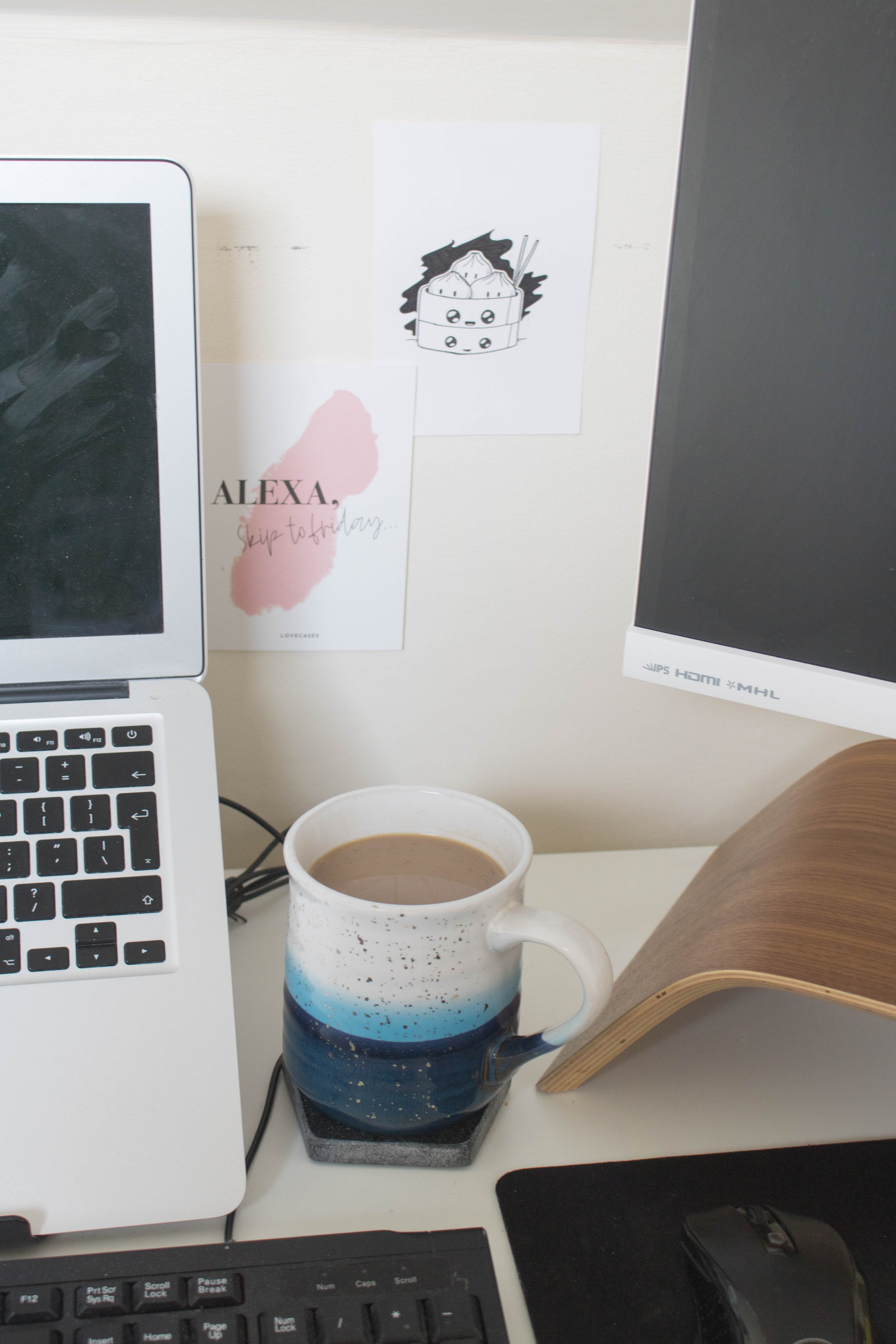 an edited lifestyle work from home office setup
