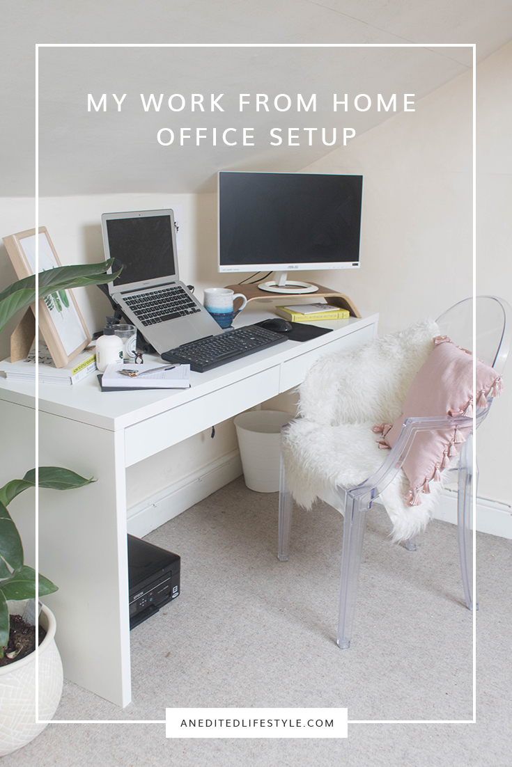 my work from home office setup pinterest