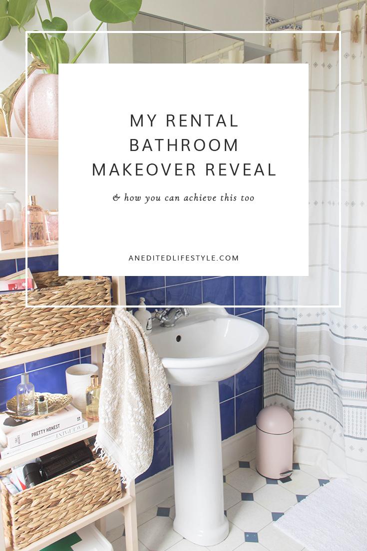 rental bathroom makeover reveal pinterest