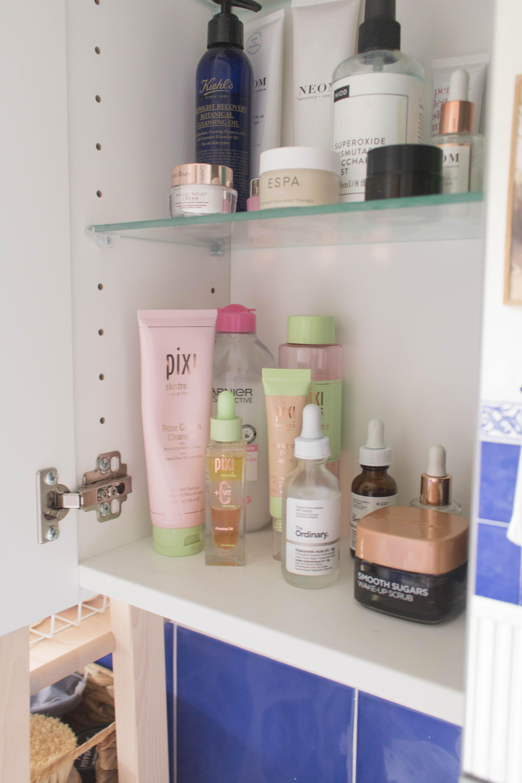 an edited lifestyle beauty bathroom cabinet