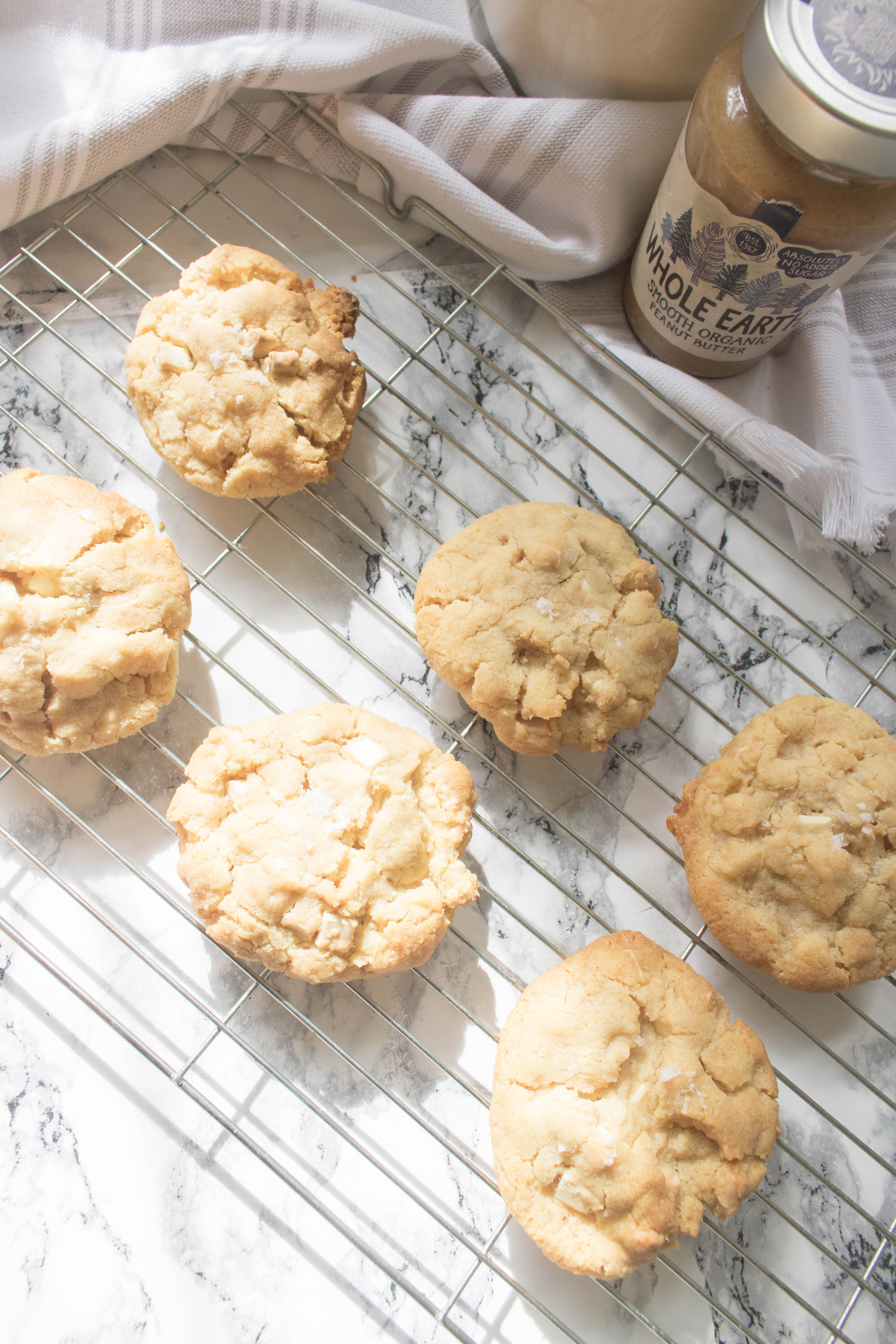 an edited lifestyle quick takes peanut butter & white chocolate cookies
