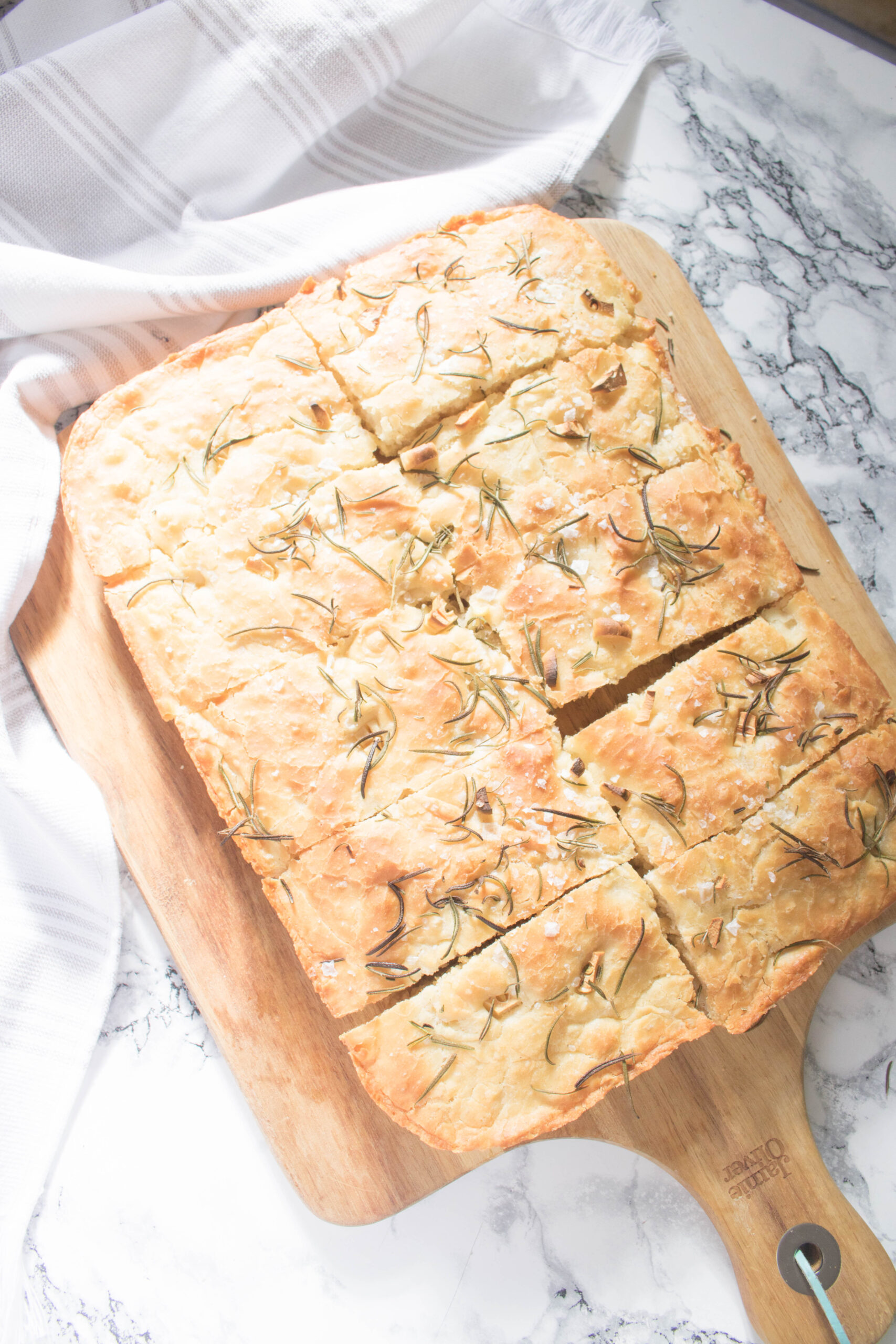 Rosemary, Garlic and Sea Salt Focaccia Bread