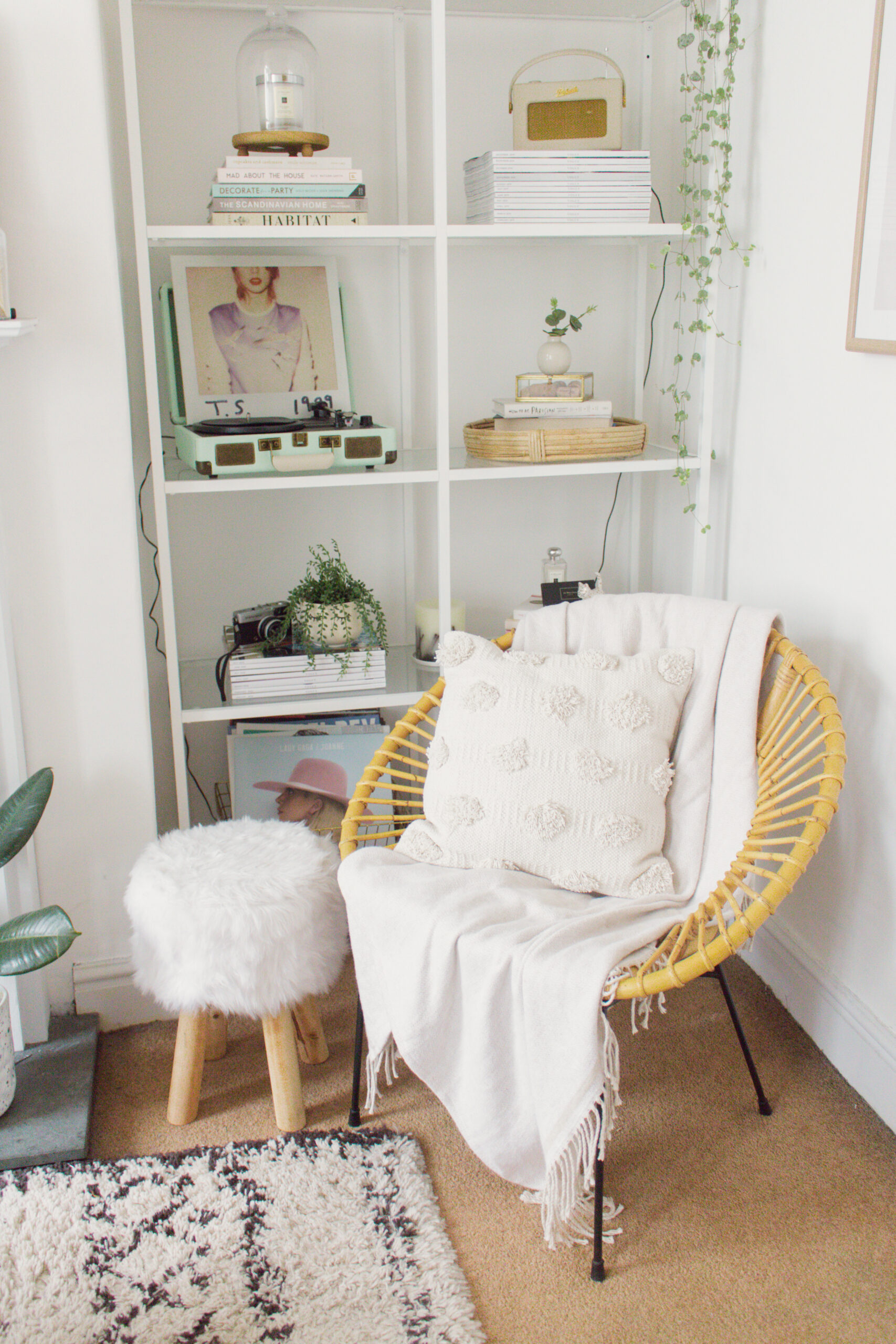 an edited lifestyle interior creating cosy corners