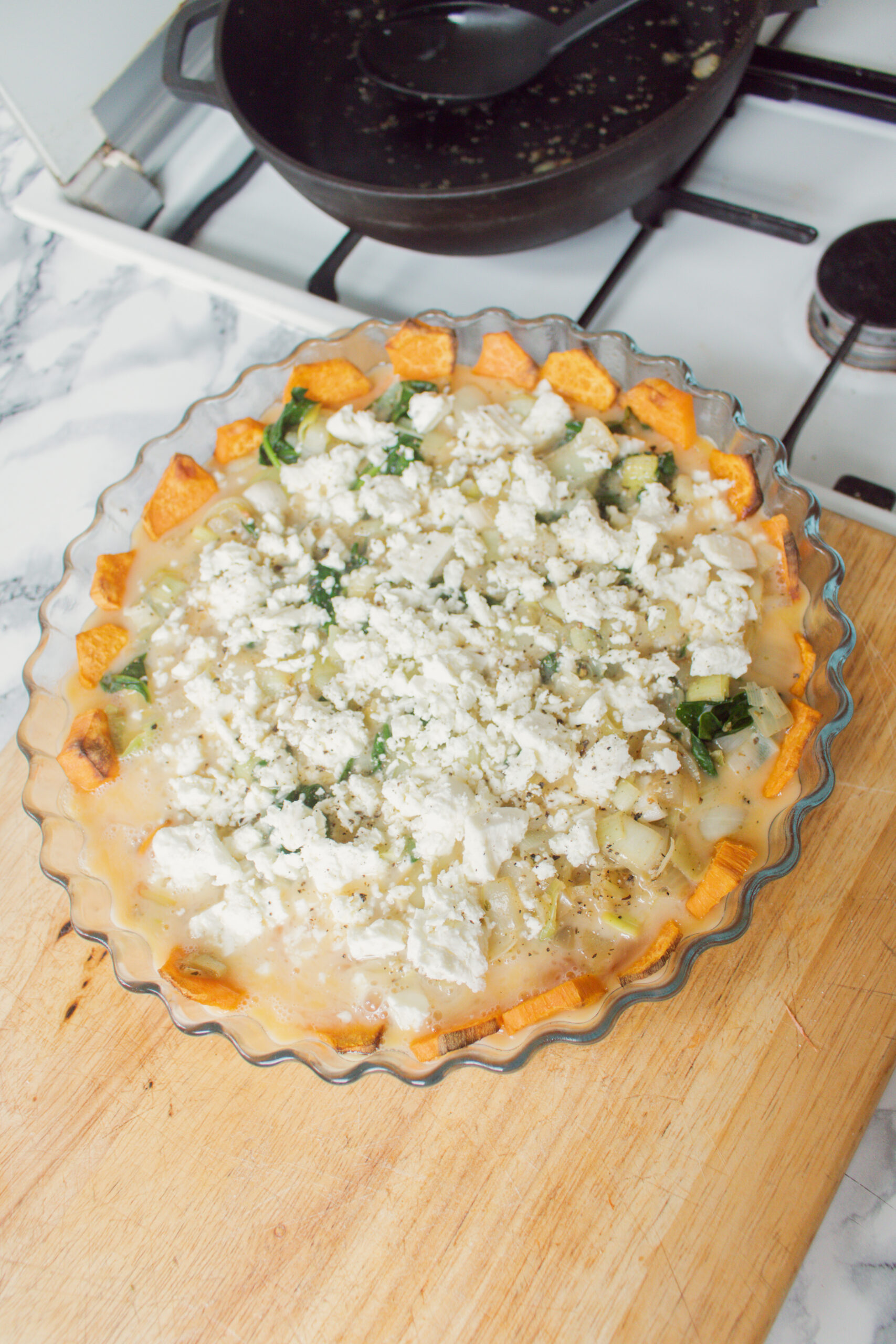 an edited lifestyle recipe sweet potato quiche