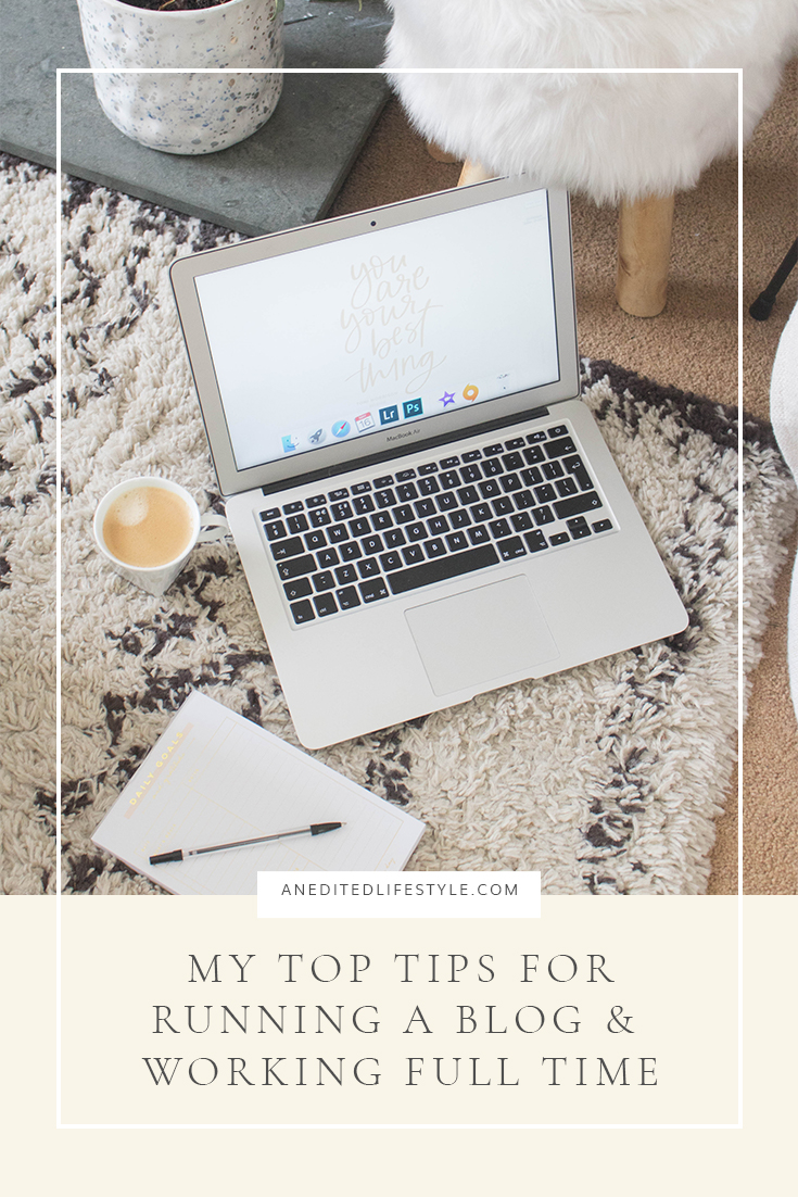 blogging and working full time pinterest