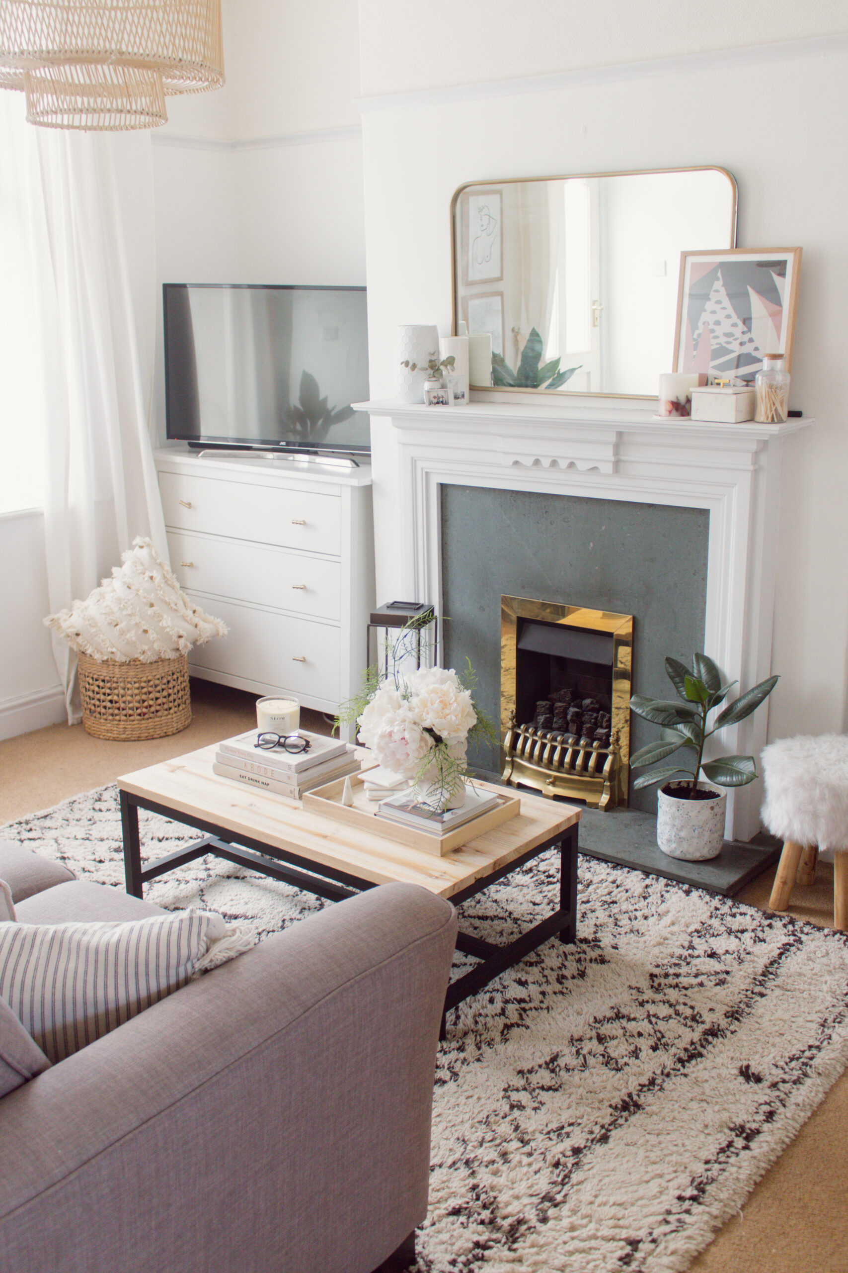 an edited lifestyle making over a rental