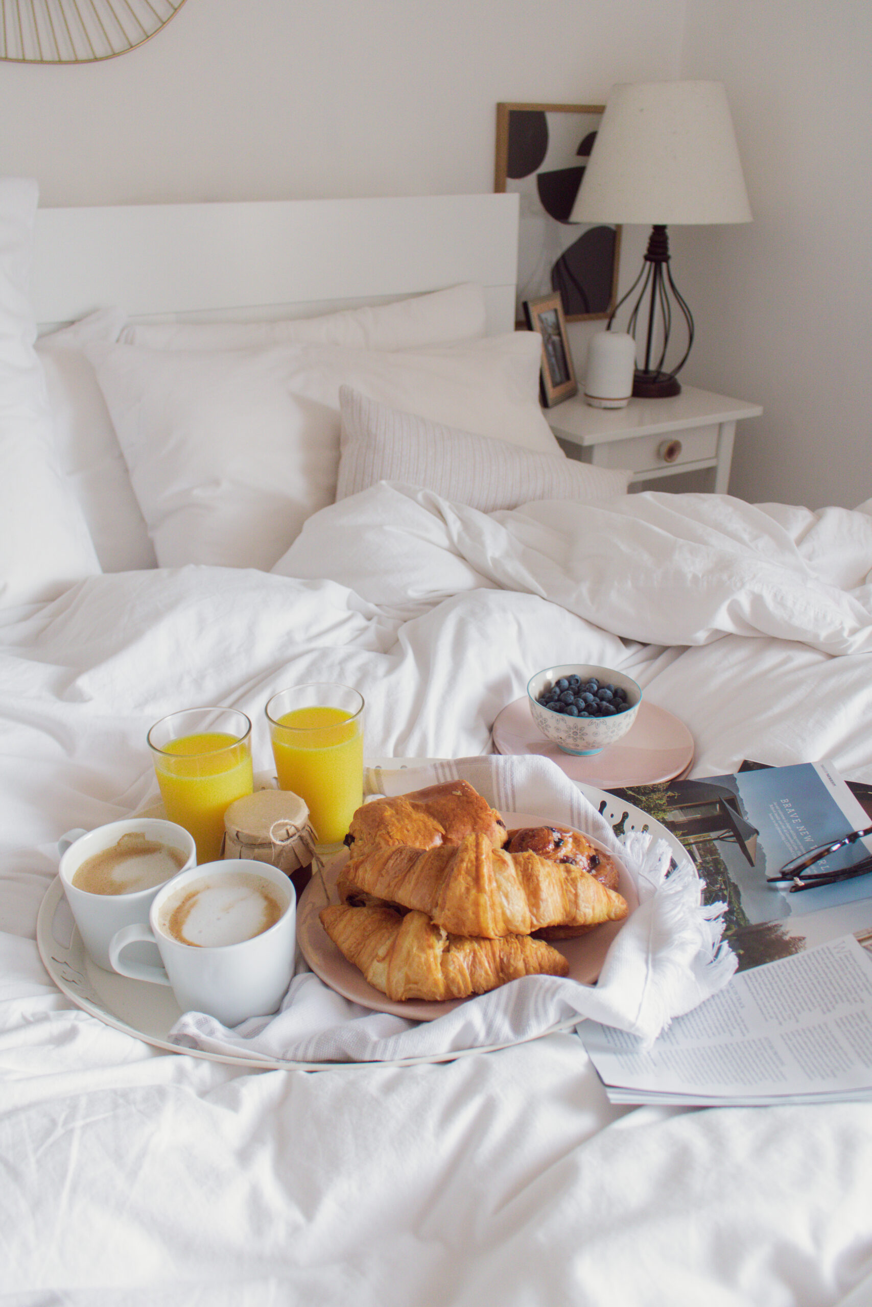 an edited lifestyle creating an easy lazy weekend morning