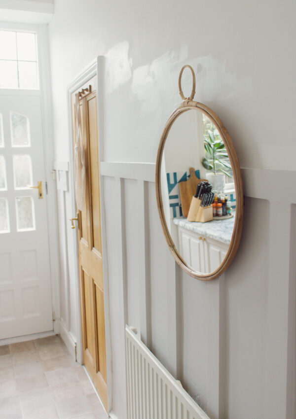 an edited lifestyle interiors board and batten wall