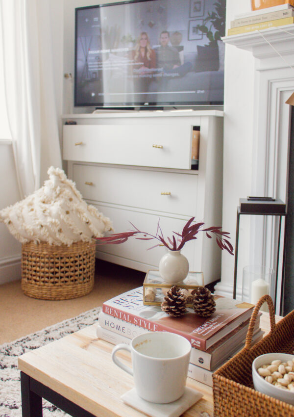 an edited lifestyle interiors decorate around a tv