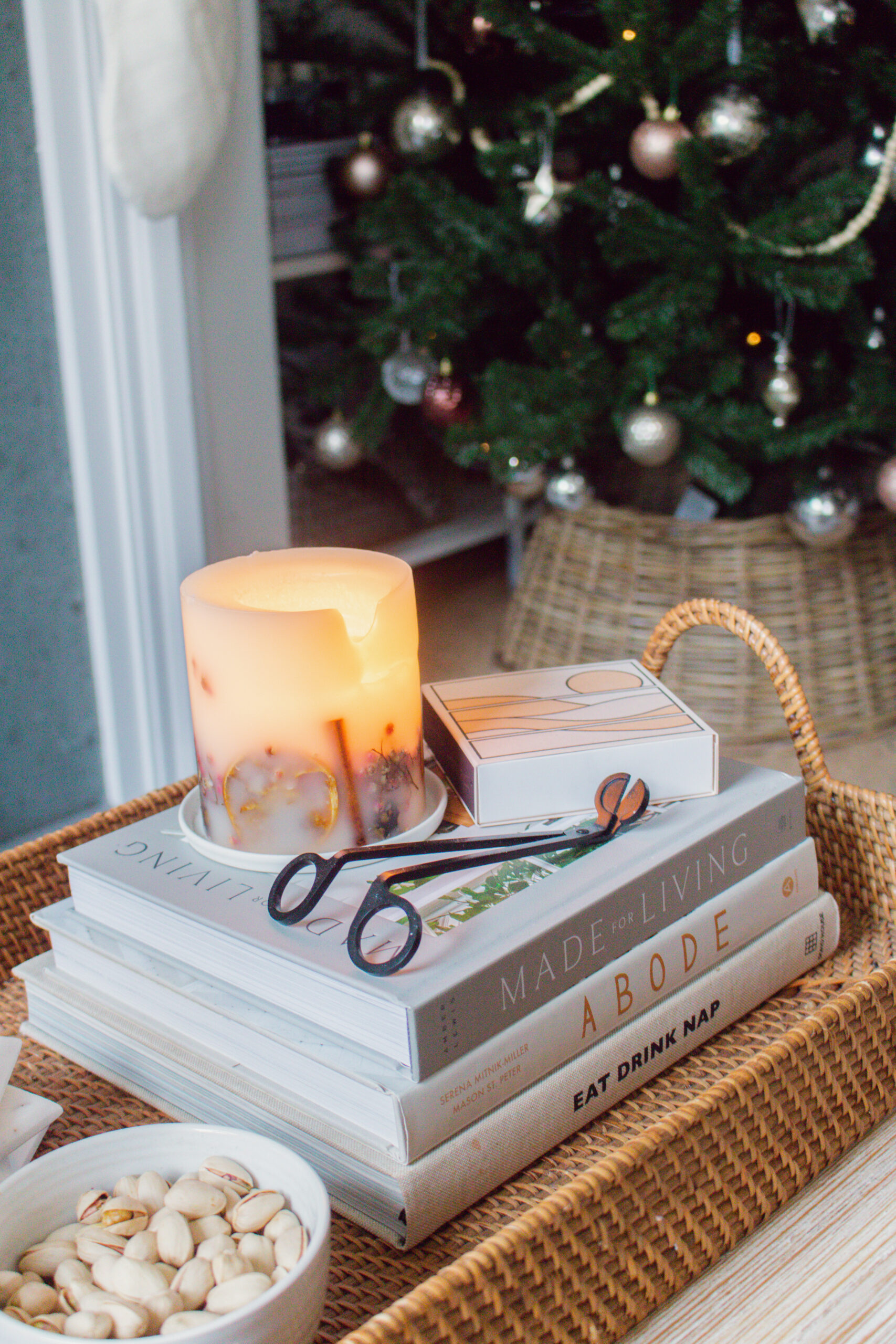 an edited lifestyle holidays winter candles