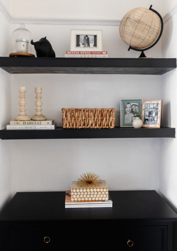 an edited lifestyle interiors diy floating shelves