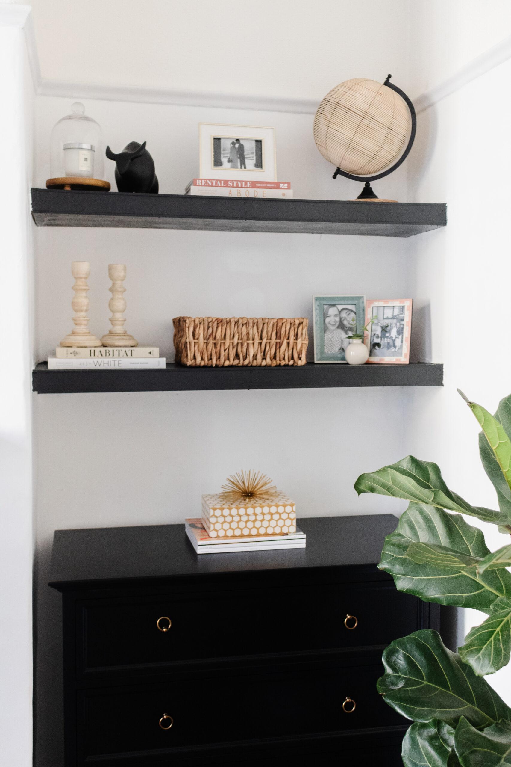 an edited lifestyle interiors diy floating shelves