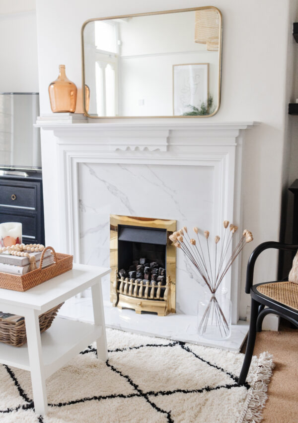 Our Rental Home DIY Fireplace Makeover