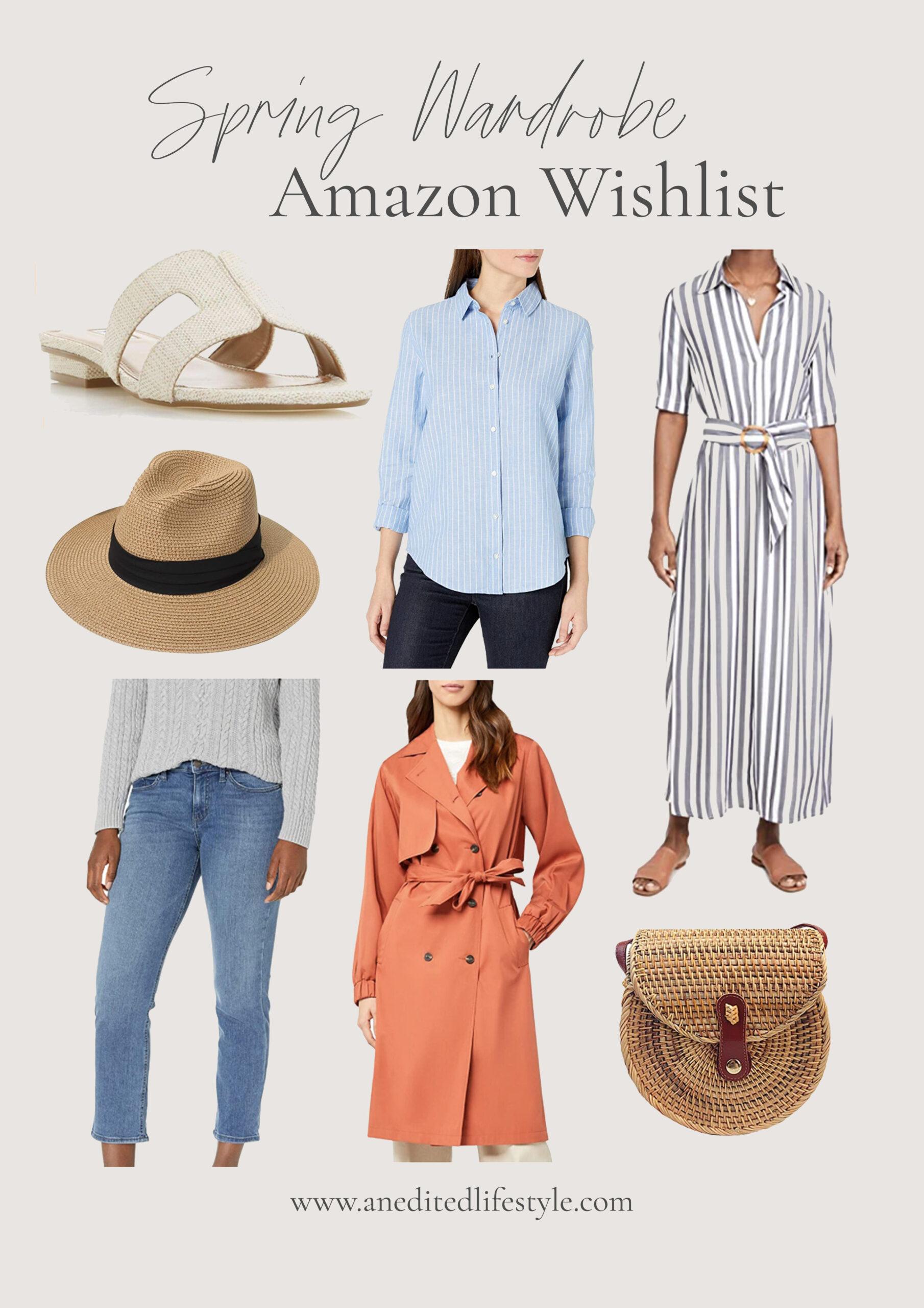 an edited lifestyle spring wardrobe amazon wishlist
