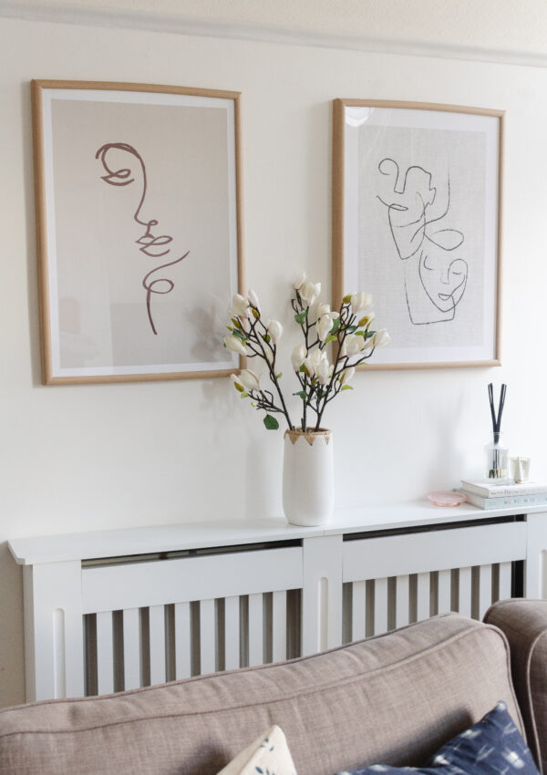 How to Decorate a Big, Blank Wall