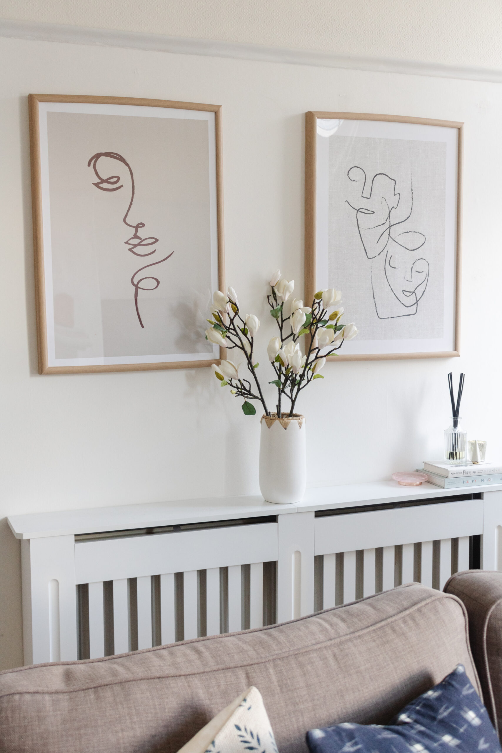 an edited lifestyle interiors decorate a big blank wall