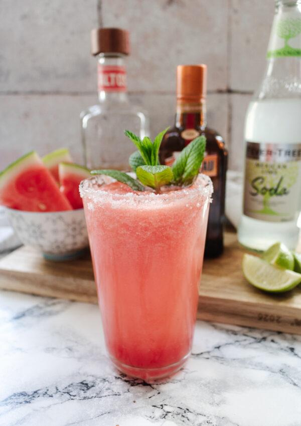 an edited lifestyle cocktail watermelon margarita recipe