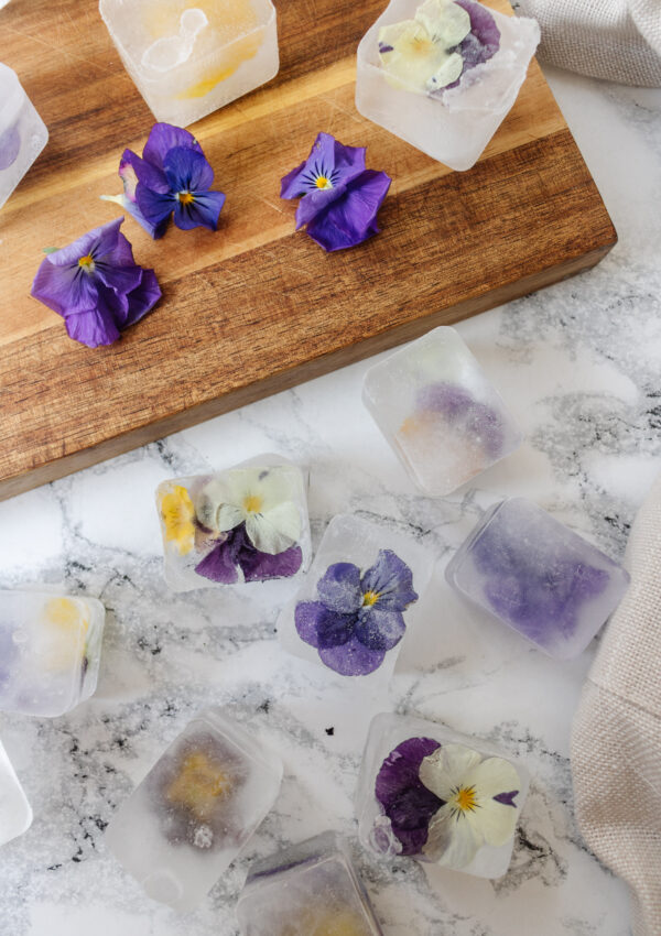 an edited lifestyle recipe diy floral ice cubes