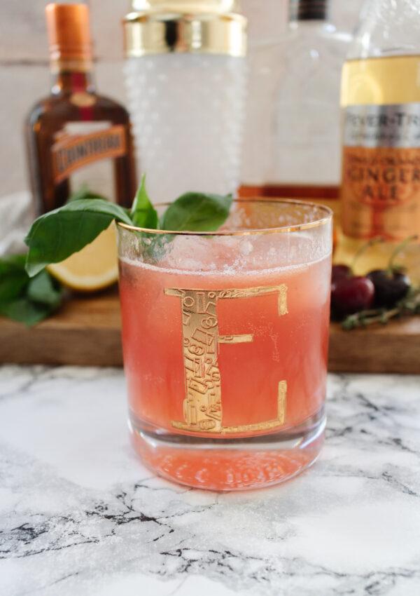 Garden Cherry Bourbon Spritz