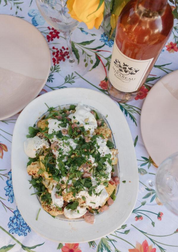 Roasted Cauliflower & Burrata Salad