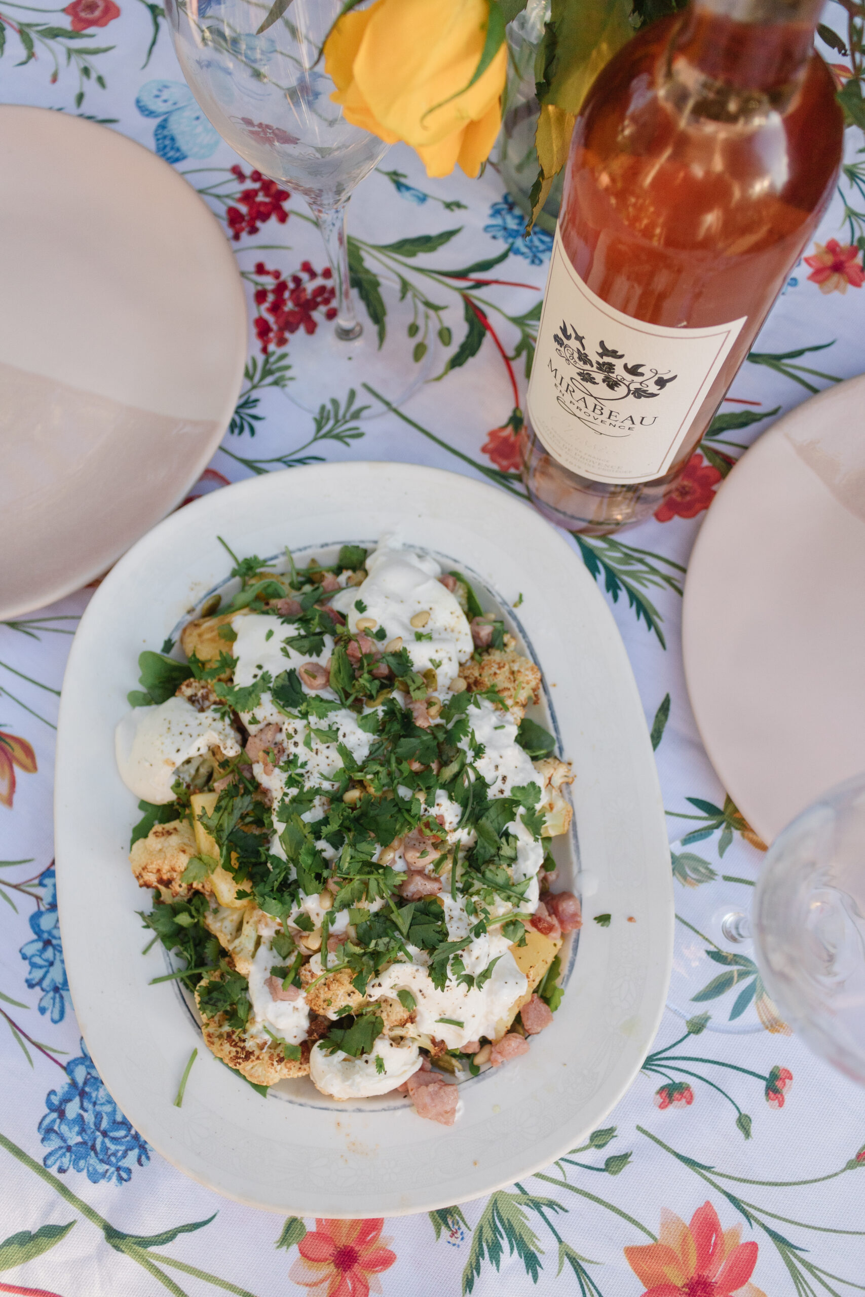 an edited lifestyle recipes roasted cauliflower burrata salad