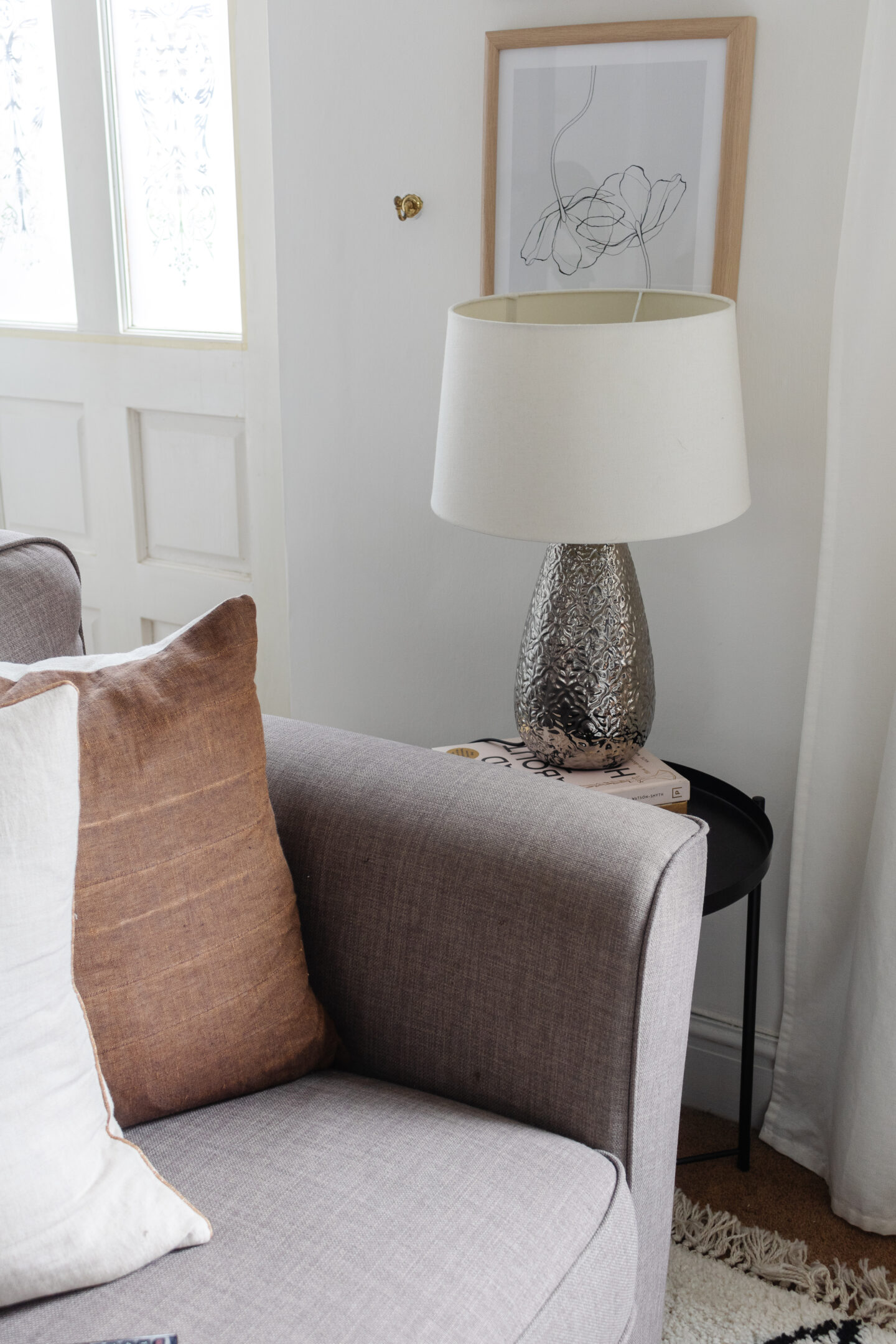an edited lifestyle interiors texture into a living room