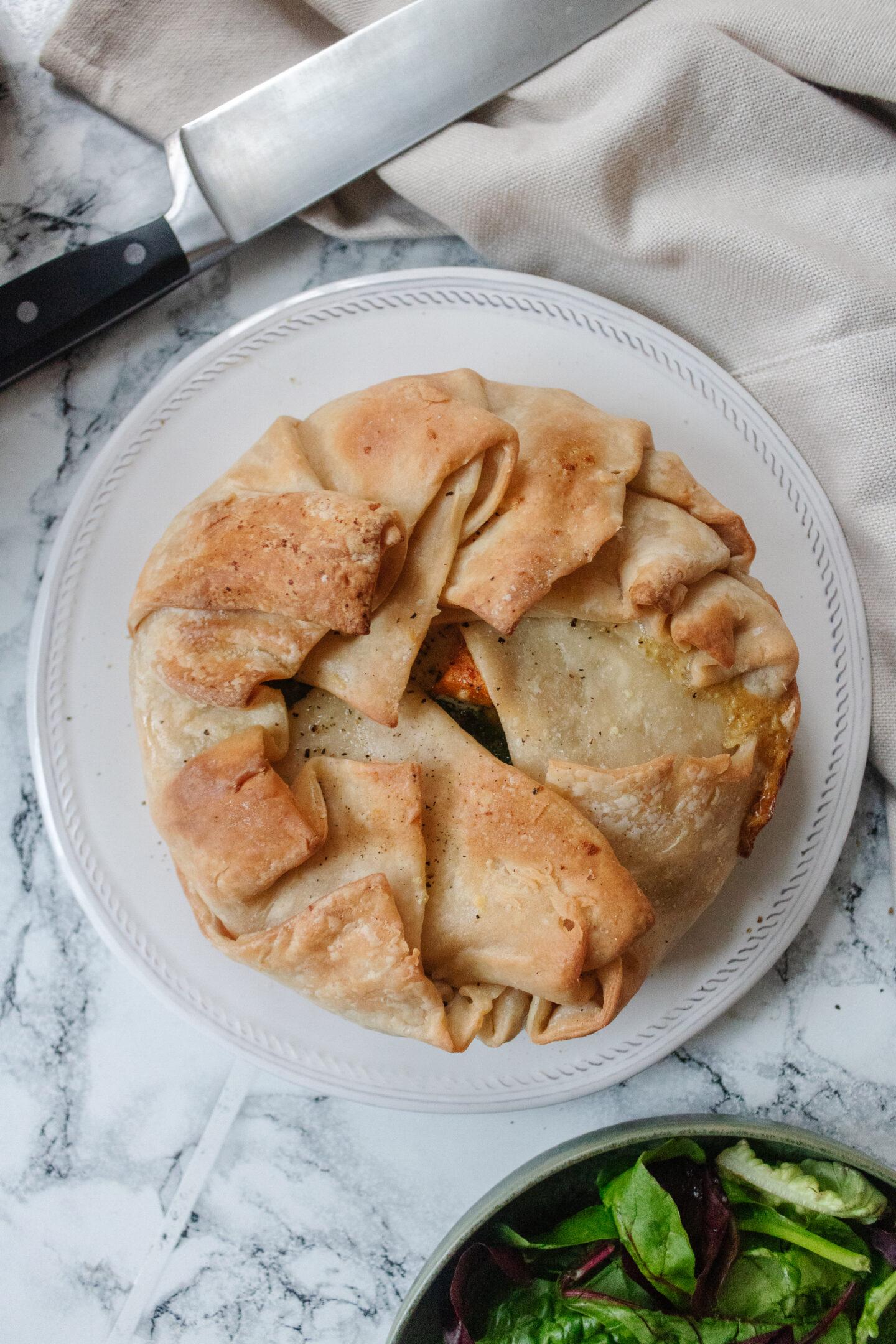 an edited lifestyle recipe butternut squash and gorgonzola greek pie