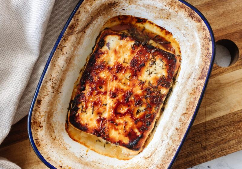 an edited lifestyle recipe honey baked feta